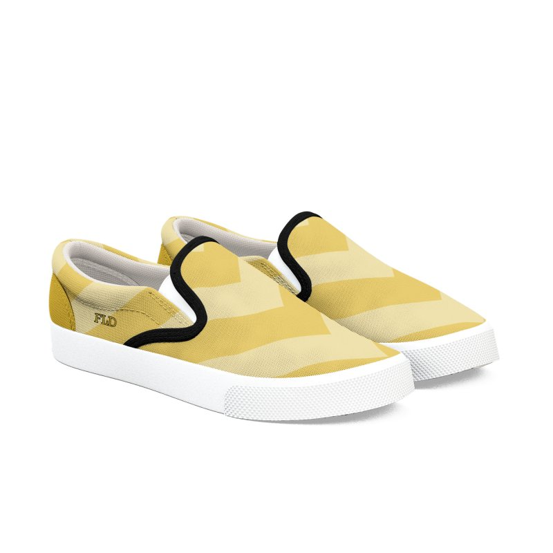 Bitonal Chevrons Women's Slip-On Shoes by falconlara.design shop