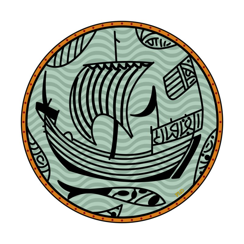 Viking Boat by falconlara.design shop