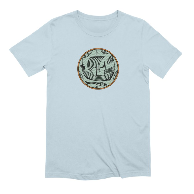 Viking Boat Men's Extra Soft T-Shirt by falconlara.design shop