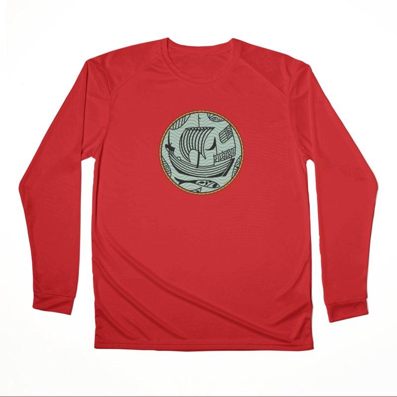Viking Boat Women's Performance Unisex Longsleeve T-Shirt by falconlara.design shop