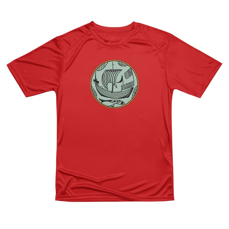 Viking Boat Men's Performance T-Shirt by falconlara.design shop