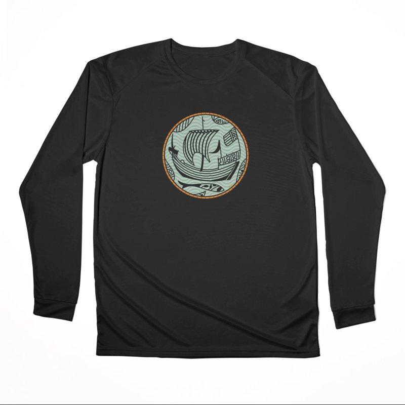 Viking Boat Men's Performance Longsleeve T-Shirt by falconlara.design shop