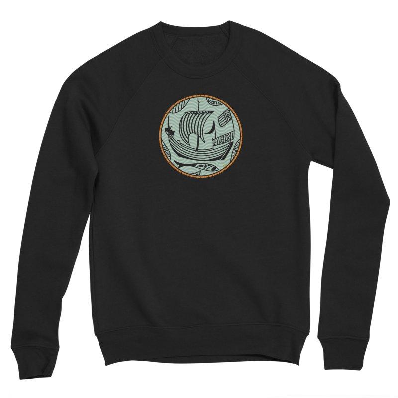 Viking Boat Women's Sponge Fleece Sweatshirt by falconlara.design shop