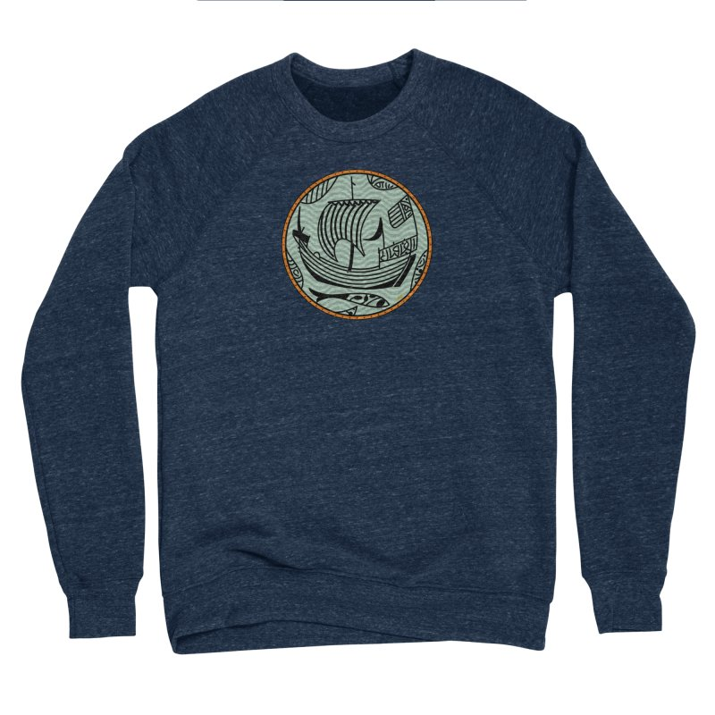 Viking Boat Men's Sponge Fleece Sweatshirt by falconlara.design shop