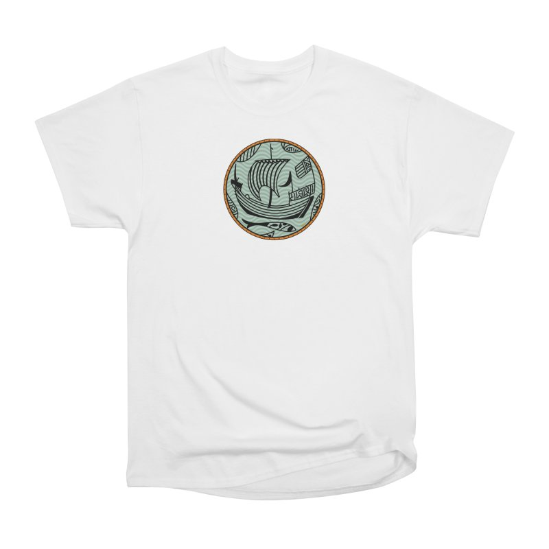 Viking Boat Men's Heavyweight T-Shirt by falconlara.design shop