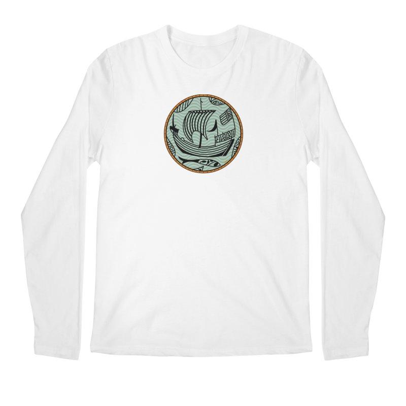 Viking Boat Men's Regular Longsleeve T-Shirt by falconlara.design shop
