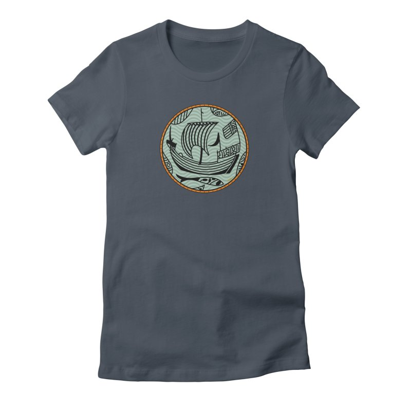 Viking Boat Women's T-Shirt by falconlara.design shop
