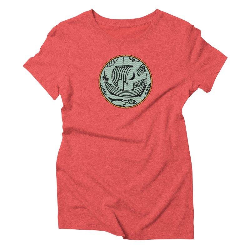Viking Boat Women's Triblend T-Shirt by falconlara.design shop