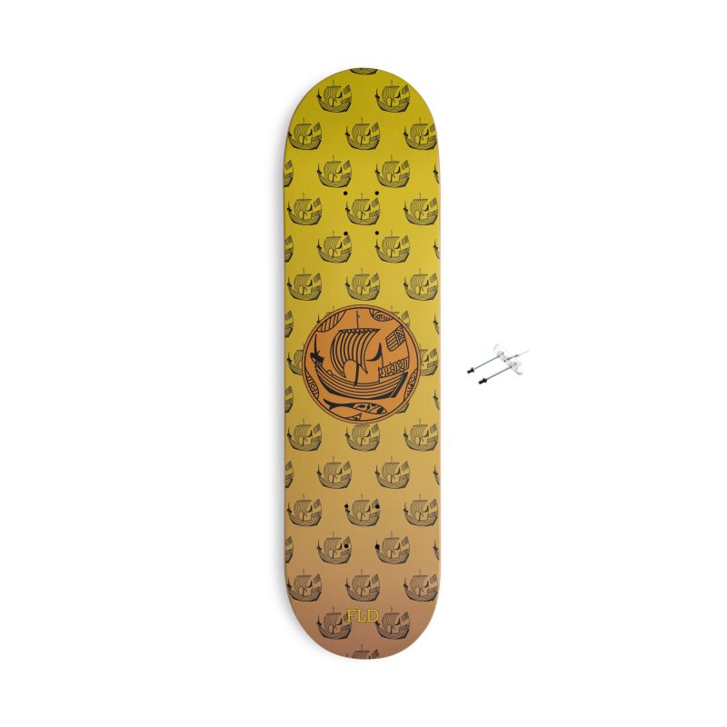 Viking Boat Accessories With Hanging Hardware Skateboard by falconlara.design shop