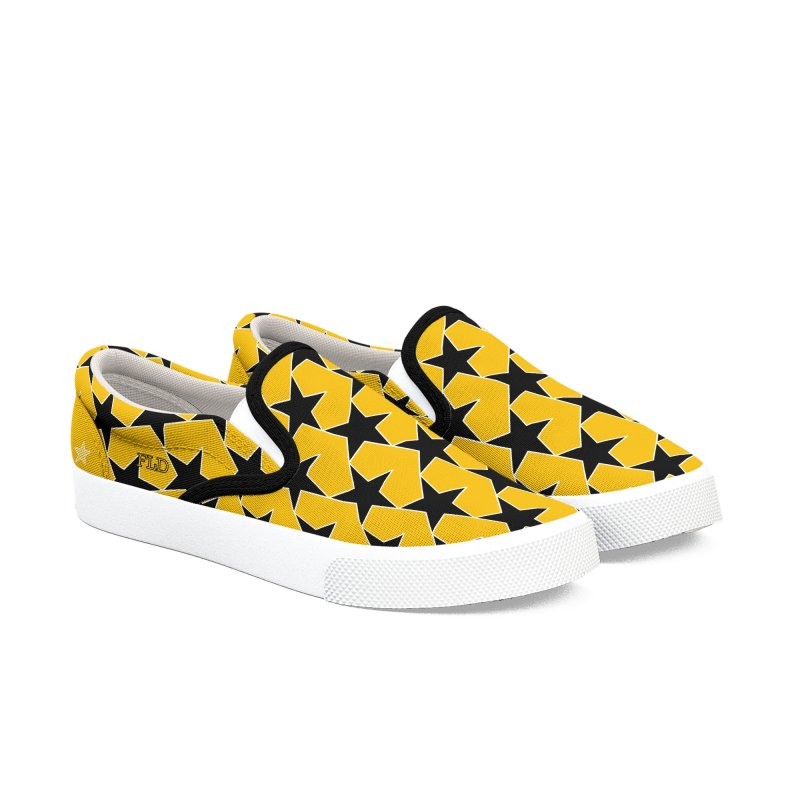 FLD Stars Shoes-Yellow Women's Slip-On Shoes by falconlara.design shop