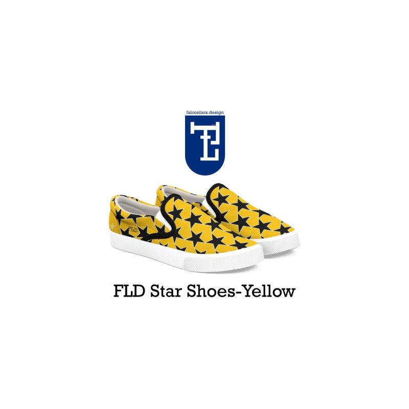 FLD Stars Shoes-Yellow by falconlara.design shop