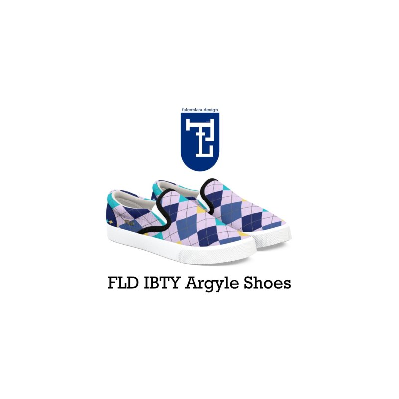 FLD IBTY Argyle Shoes Men's Shoes by falconlara.design shop