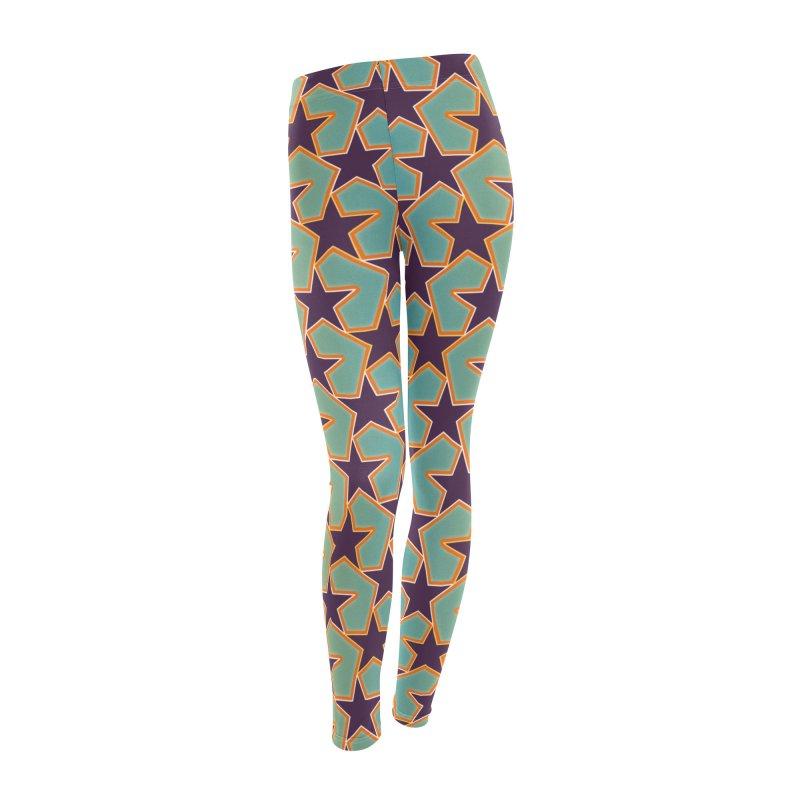 Bright Stars Women's Leggings Bottoms by falconlara.design shop