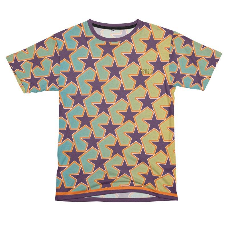 Bright Stars Women's Unisex French Terry T-Shirt Cut & Sew by falconlara.design shop