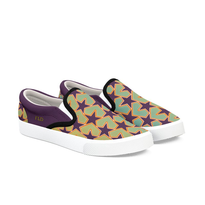 Bright Stars Women's Slip-On Shoes by falconlara.design shop