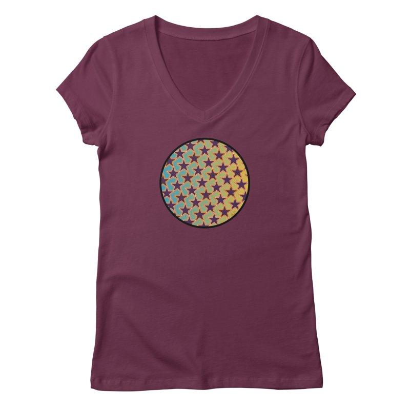 Bright Stars Women's Regular V-Neck by falconlara.design shop