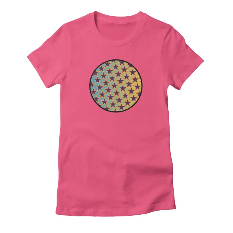 Bright Stars Women's Fitted T-Shirt by falconlara.design shop