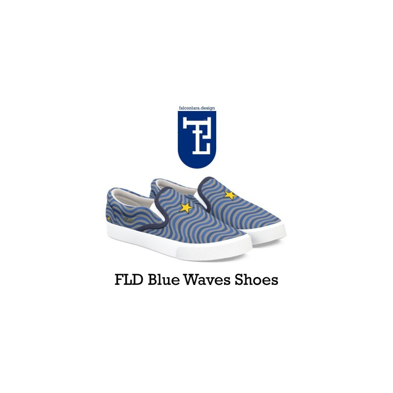 FLD Blue Waves Shoes by falconlara.design shop