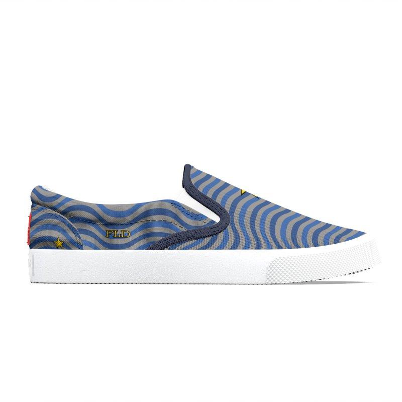 FLD Blue Waves Shoes Men's Shoes by falconlara.design shop