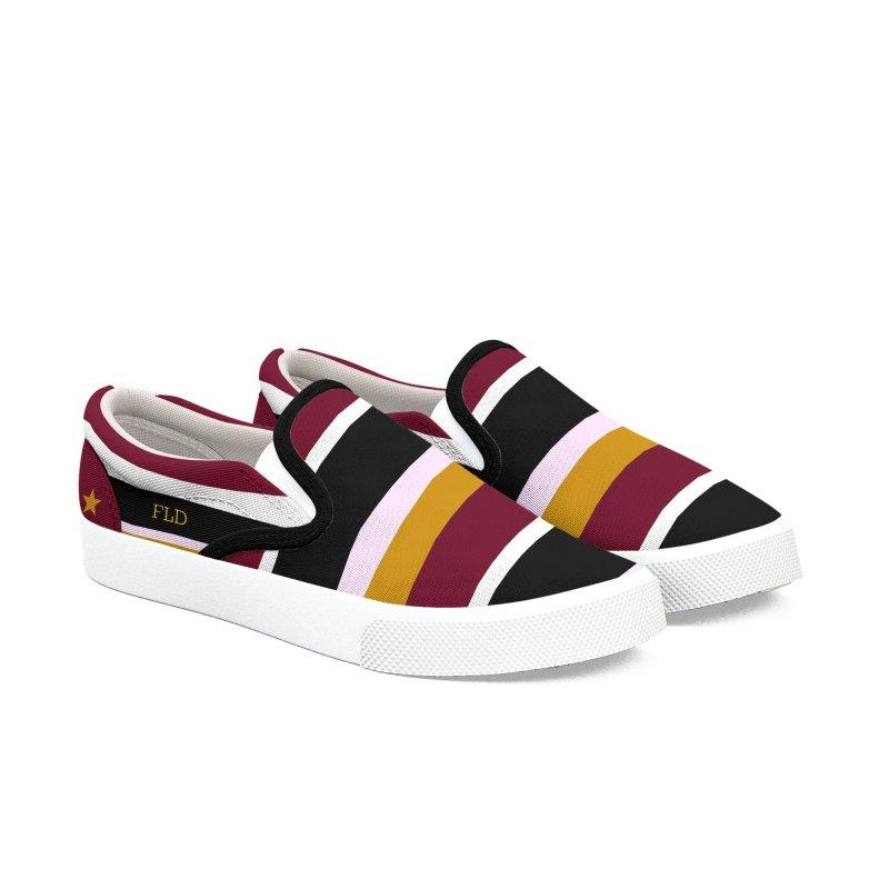 FLD Modern Stripes Shoes Men's Slip-On Shoes by falconlara.design shop