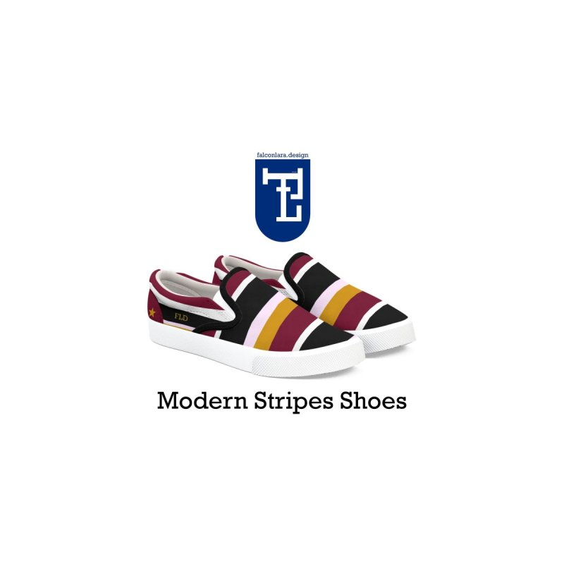 FLD Modern Stripes Shoes by falconlara.design shop