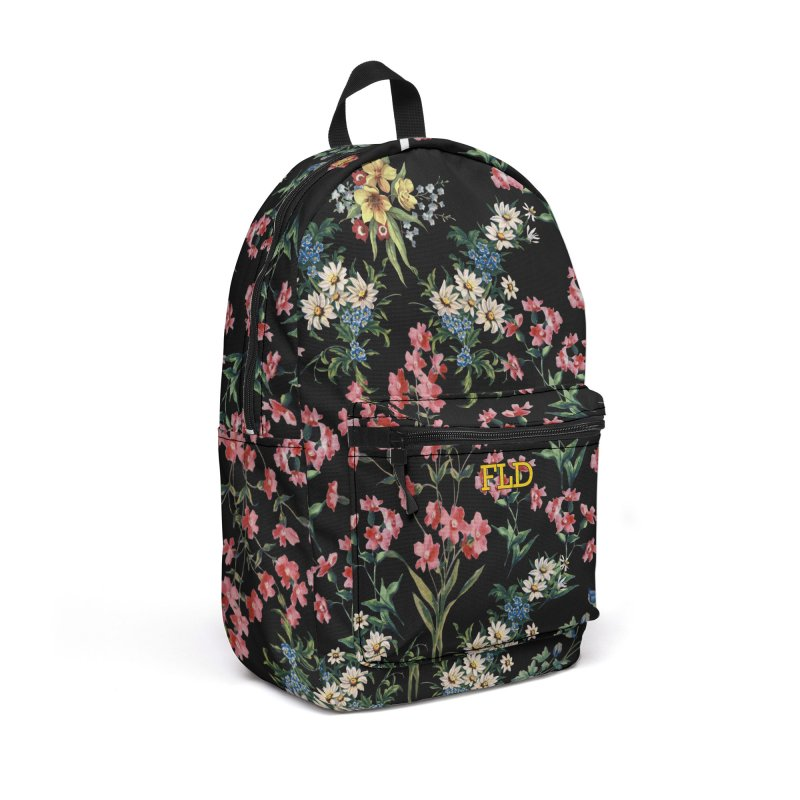 Bouquet On Black Accessories Backpack Bag by falconlara.design shop