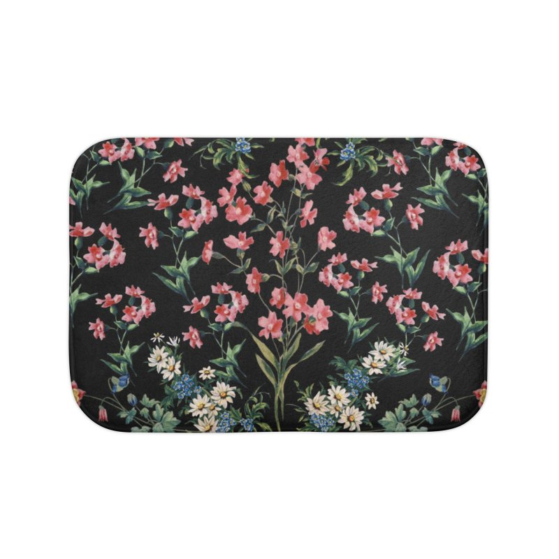 Bouquet On Black Home Bath Mat by falconlara.design shop