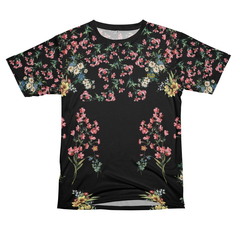 Bouquet On Black Women's Unisex T-Shirt Cut & Sew by falconlara.design shop