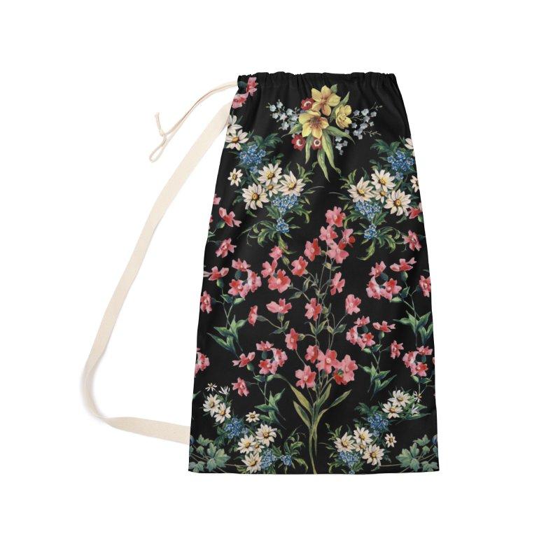 Bouquet On Black Accessories Bag by falconlara.design shop