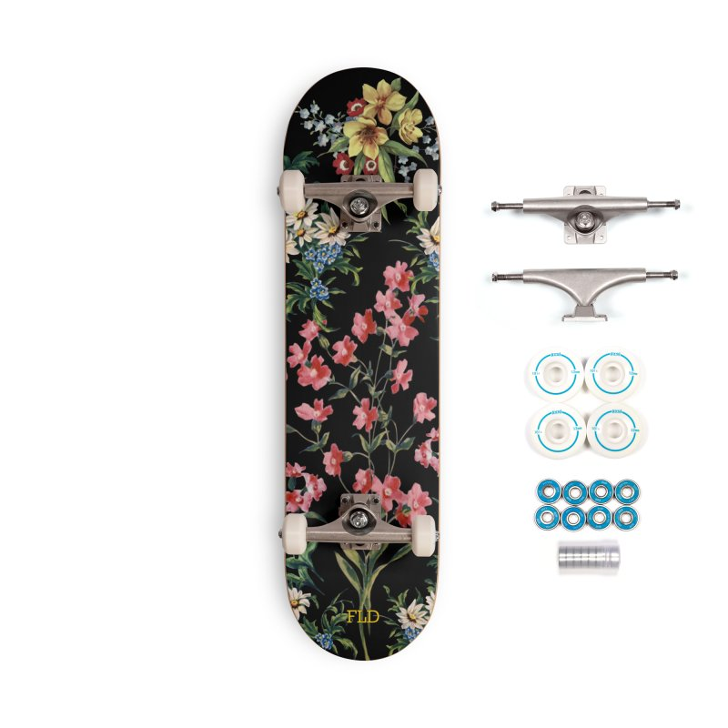 Bouquet On Black Accessories Complete - Basic Skateboard by falconlara.design shop