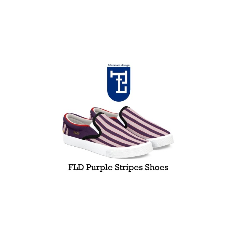FLD Purple Stripes Shoes by falconlara.design shop