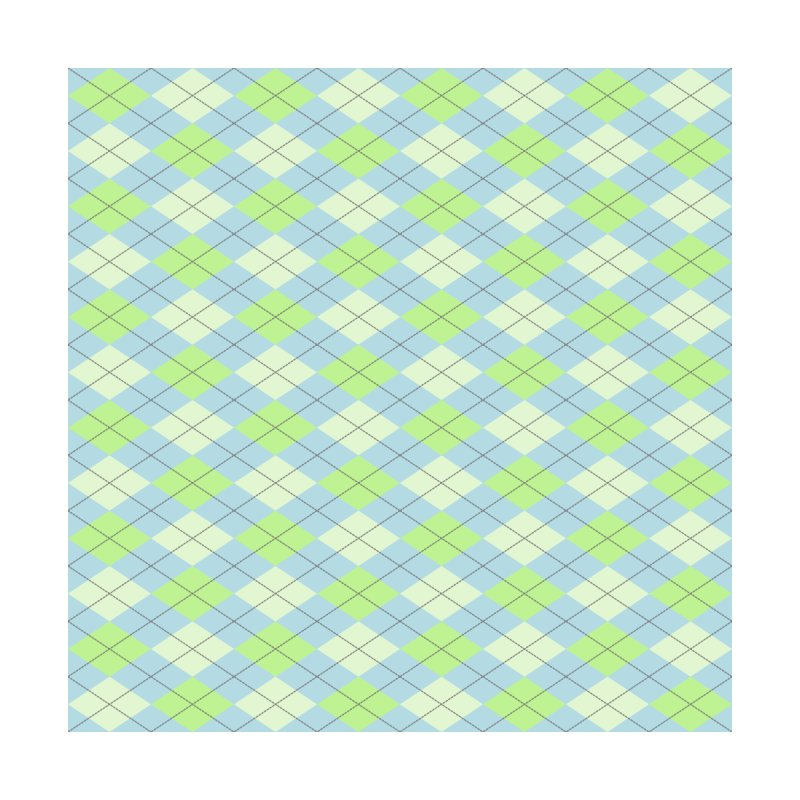 Lime Moss Sky Argyle by falconlara.design shop