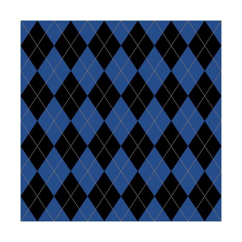 Black And Blue Argyle by falconlara.design shop