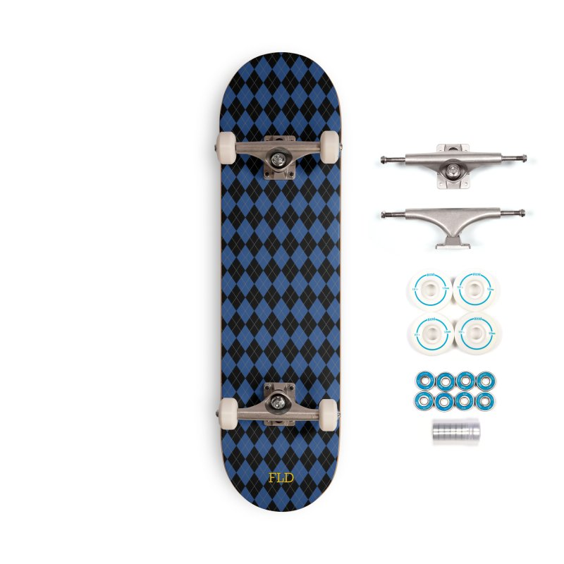 Black And Blue Argyle Accessories Complete - Basic Skateboard by falconlara.design shop