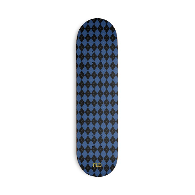 Black And Blue Argyle Accessories Deck Only Skateboard by falconlara.design shop