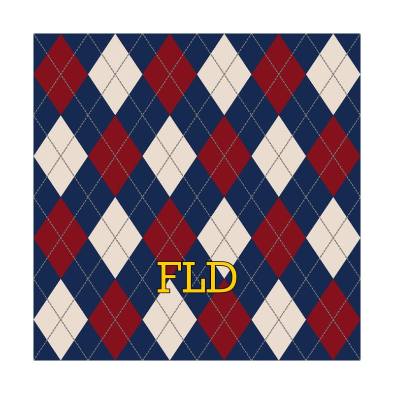 FLD Burgundy Sand Blue Argyle by falconlara.design shop