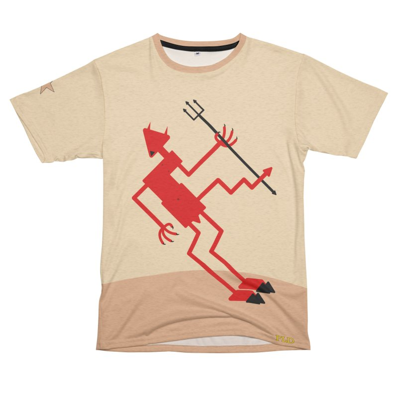Squiggly Devil Men's French Terry T-Shirt Cut & Sew by falconlara.design shop