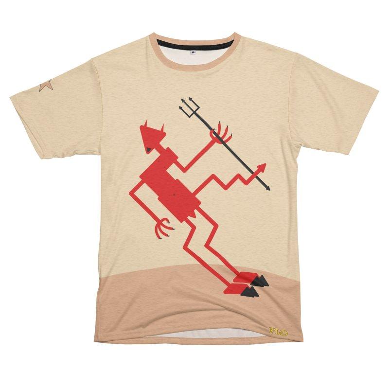 Squiggly Devil Women's Unisex French Terry T-Shirt Cut & Sew by falconlara.design shop