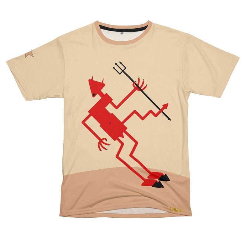 Squiggly Devil Women's Unisex T-Shirt Cut & Sew by falconlara.design shop