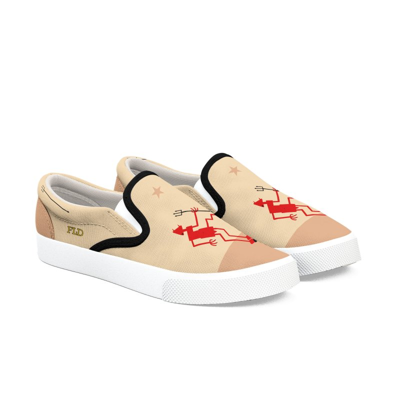 Squiggly Devil Men's Slip-On Shoes by falconlara.design shop