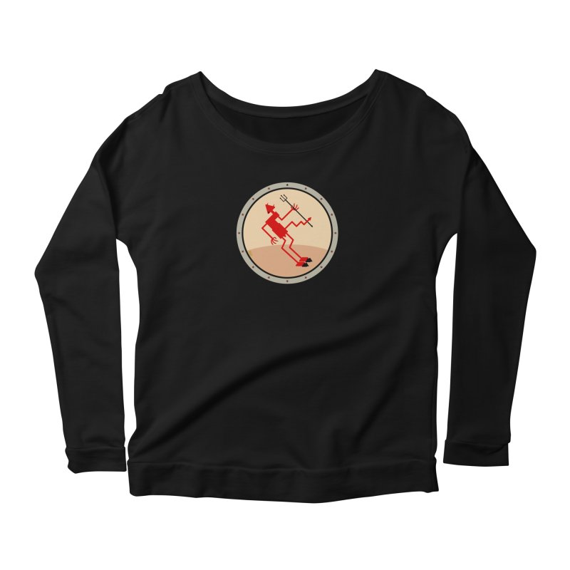 Squiggly Devil Women's Scoop Neck Longsleeve T-Shirt by falconlara.design shop