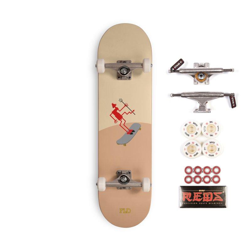 Squiggly Devil Accessories Complete - Pro Skateboard by falconlara.design shop