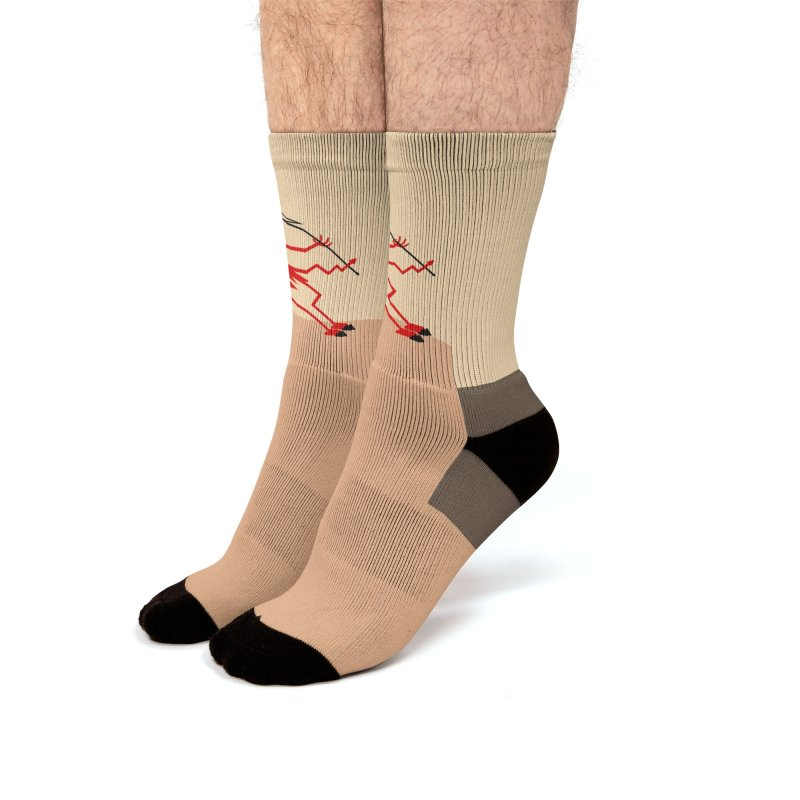 Squiggly Devil Men's Crew Socks by falconlara.design shop