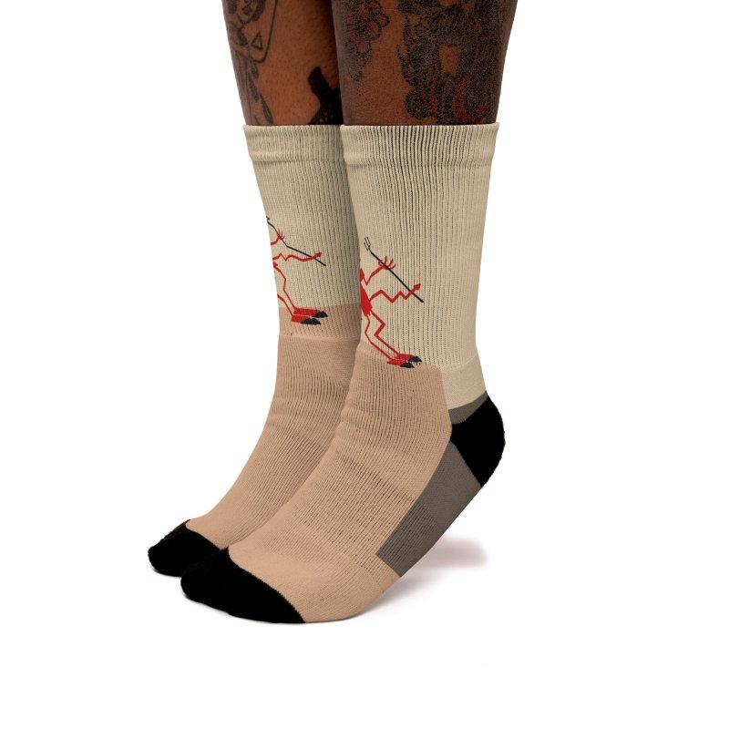 Squiggly Devil Women's Crew Socks by falconlara.design shop