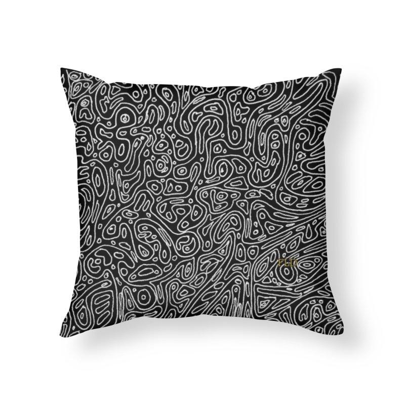 Organic Doodle Home Throw Pillow by falconlara.design shop