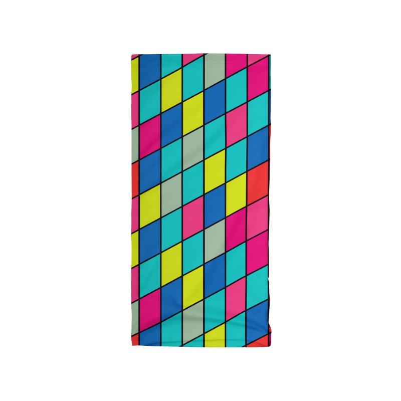 FLD Rhomboid Pattern Accessories Neck Gaiter by falconlara.design shop