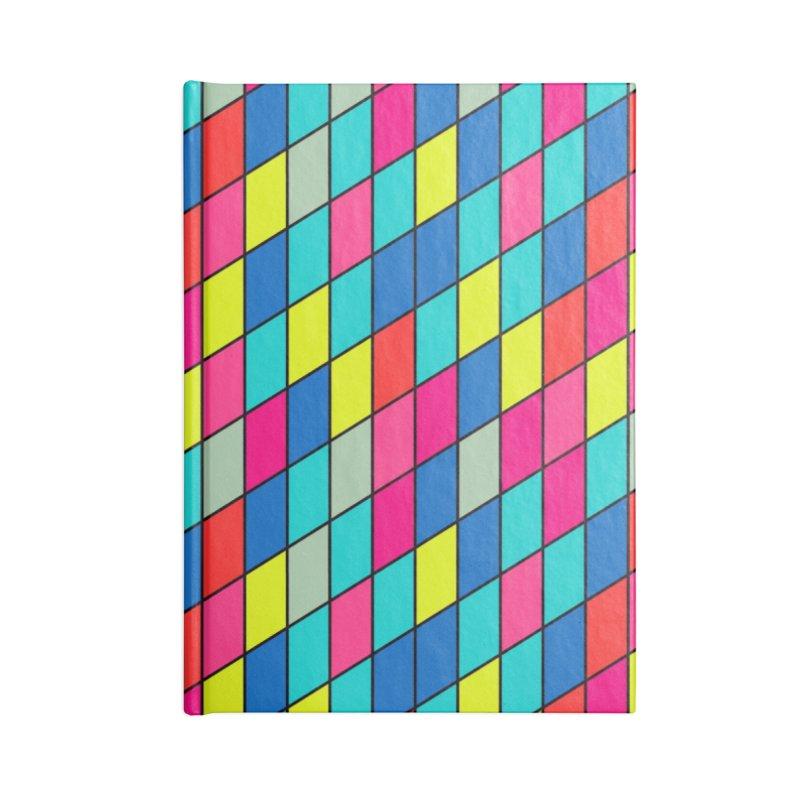 FLD Rhomboid Pattern Accessories Notebook by falconlara.design shop