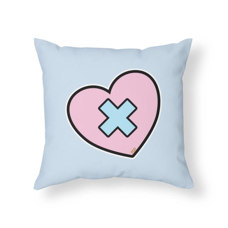 Cross My Heart Home Throw Pillow by falconlara.design shop