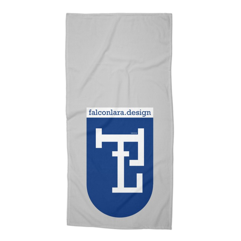 Falcón Lara Herald Blue Accessories Beach Towel by falconlara.design shop