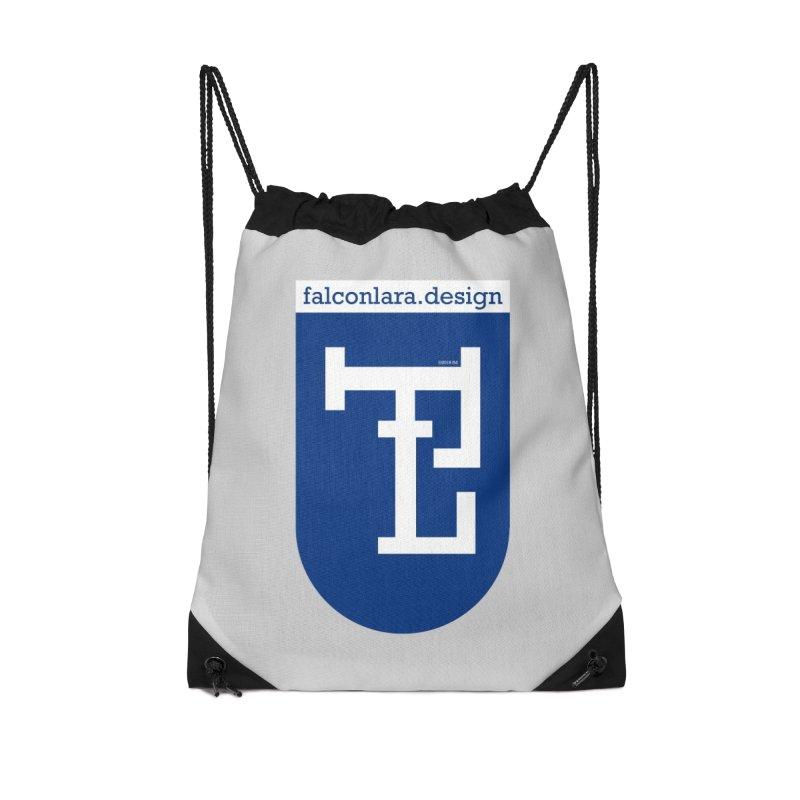 Falcón Lara Herald Blue Accessories Drawstring Bag Bag by falconlara.design shop